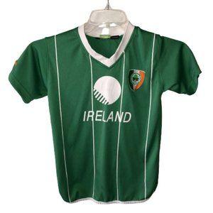 Ireland Striker Size 9-11 Green Soccer Shirt Kids